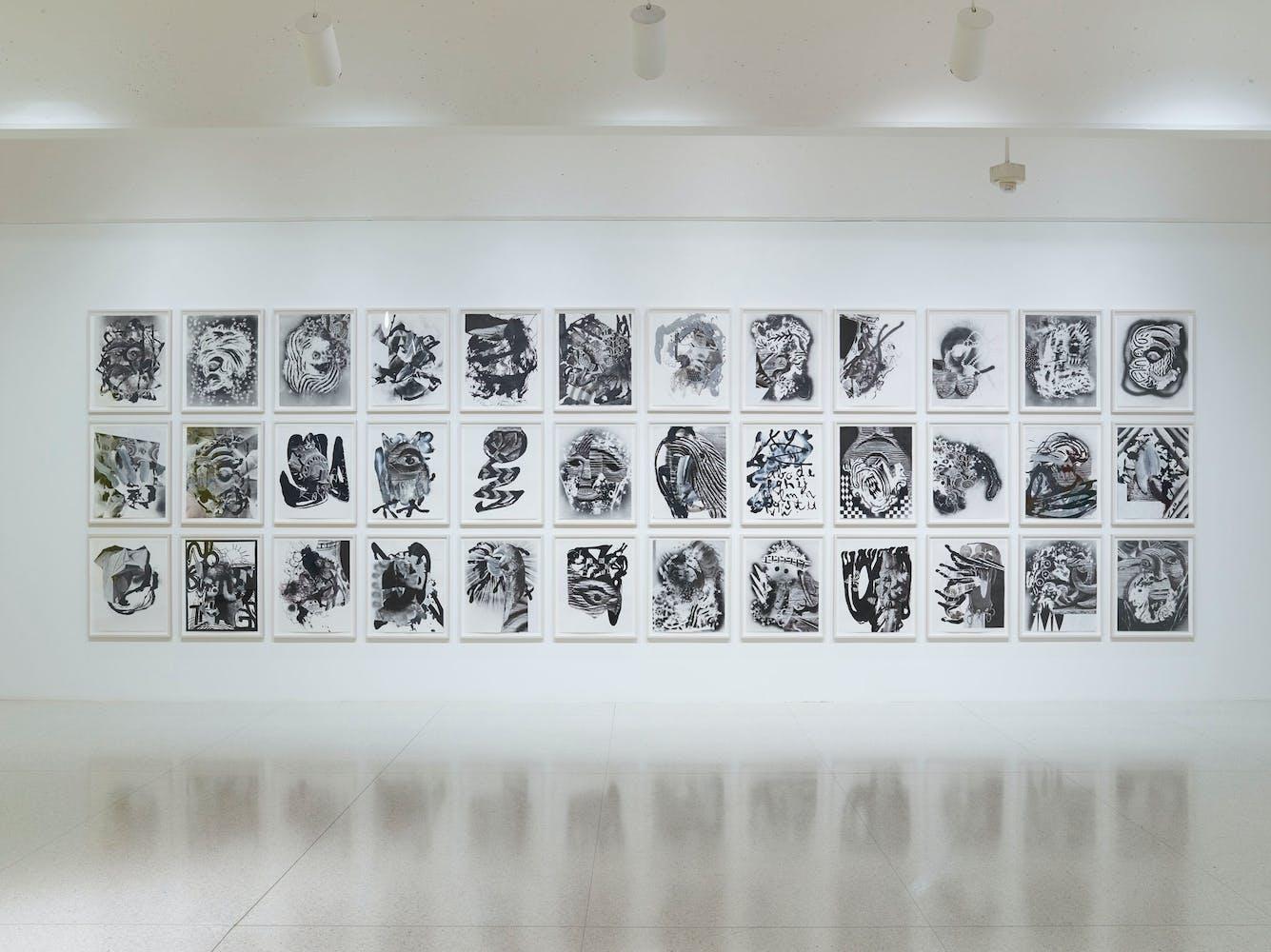 View of the exhibition Less Than One, 2016; Charline von Heyl, Folk Tales, 2014 (Photo: Gene Pittman, ©Walker Art Center)