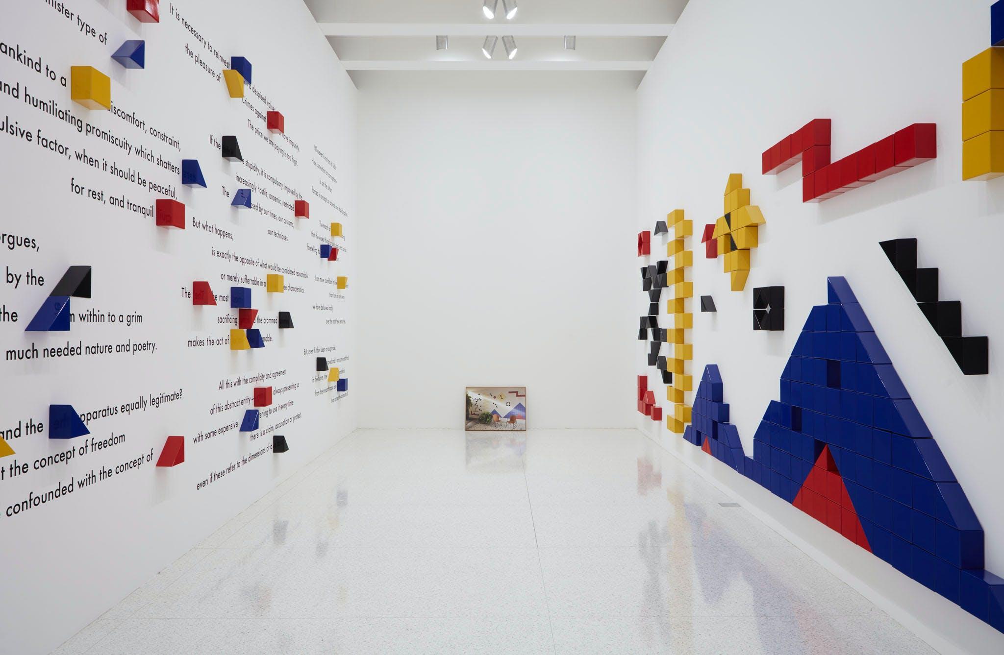 View of the exhibition Question the Wall Itself, 2016; Jonathas de Andrade, Nostalgia, Sentimento de Classe (Nostalgia, a Class Sentiment), 2012 (Photo: Gene Pittman, ©Walker Art Center)