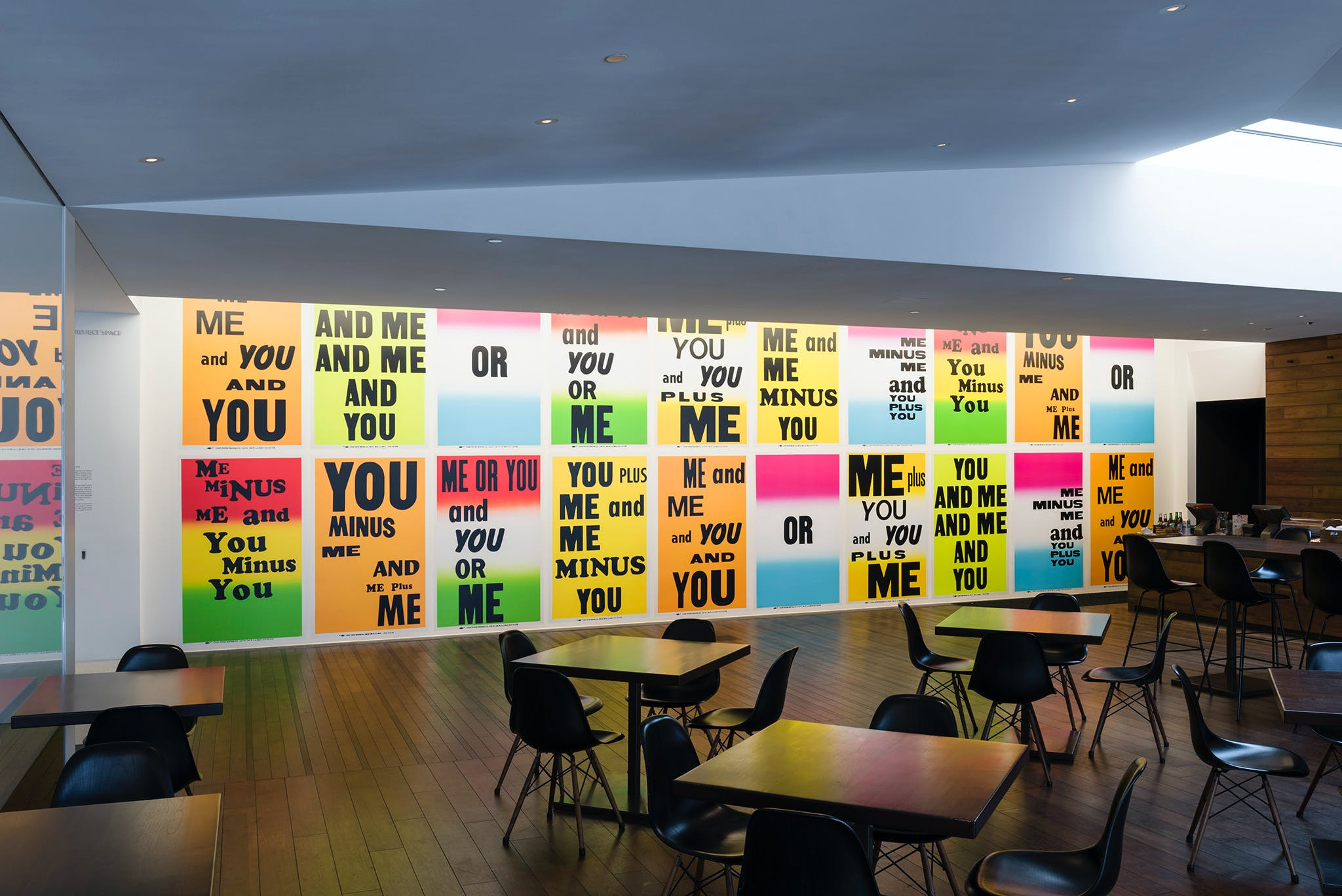 Allen Ruppersberg, You & Me, 2013, installed in the Walker's Target Project space in Esker Grove. Photo: Galen Fletcher for Walker Art Center