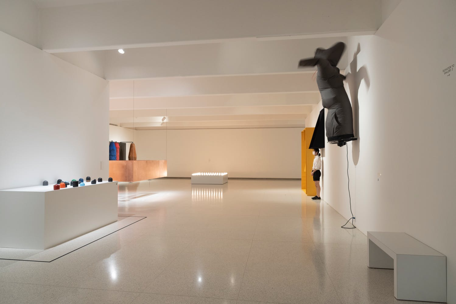 Gallery view with various sculptural objects
