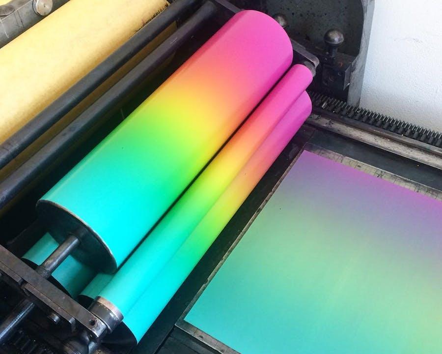 Gradient -- blend roll -- split fountain -- rainbow roll