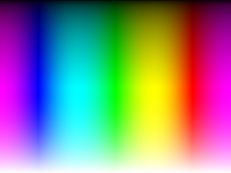 Gradient -- Visible spectrum