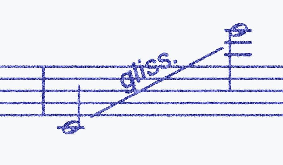 Gradient -- glissando -- continuous glissando
