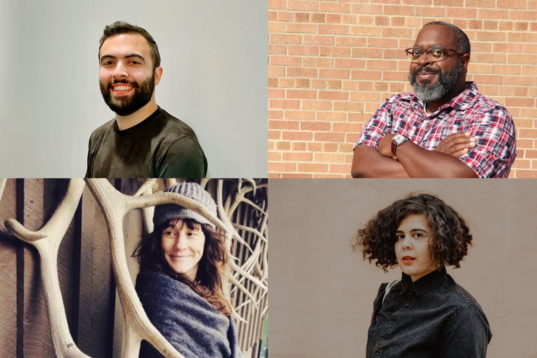 Four portraits of poets