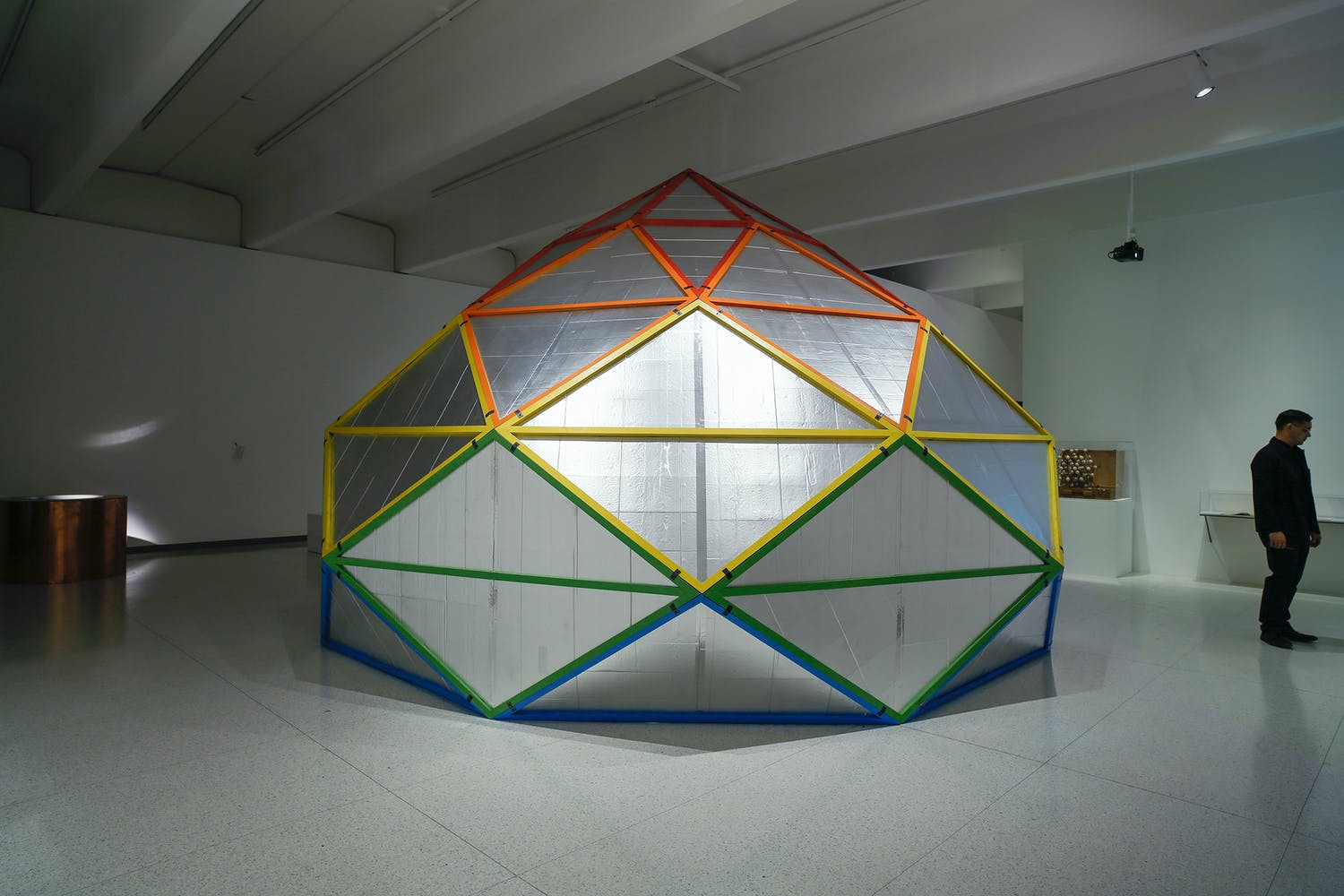 "View of the exhibition Hippie Modernism: The Struggle for Utopia, 2015; Clark Richert, Richard Kallweit, and Ed Heinz, 8-Fold ""Polar Zonahedron,"" 1968/2015"