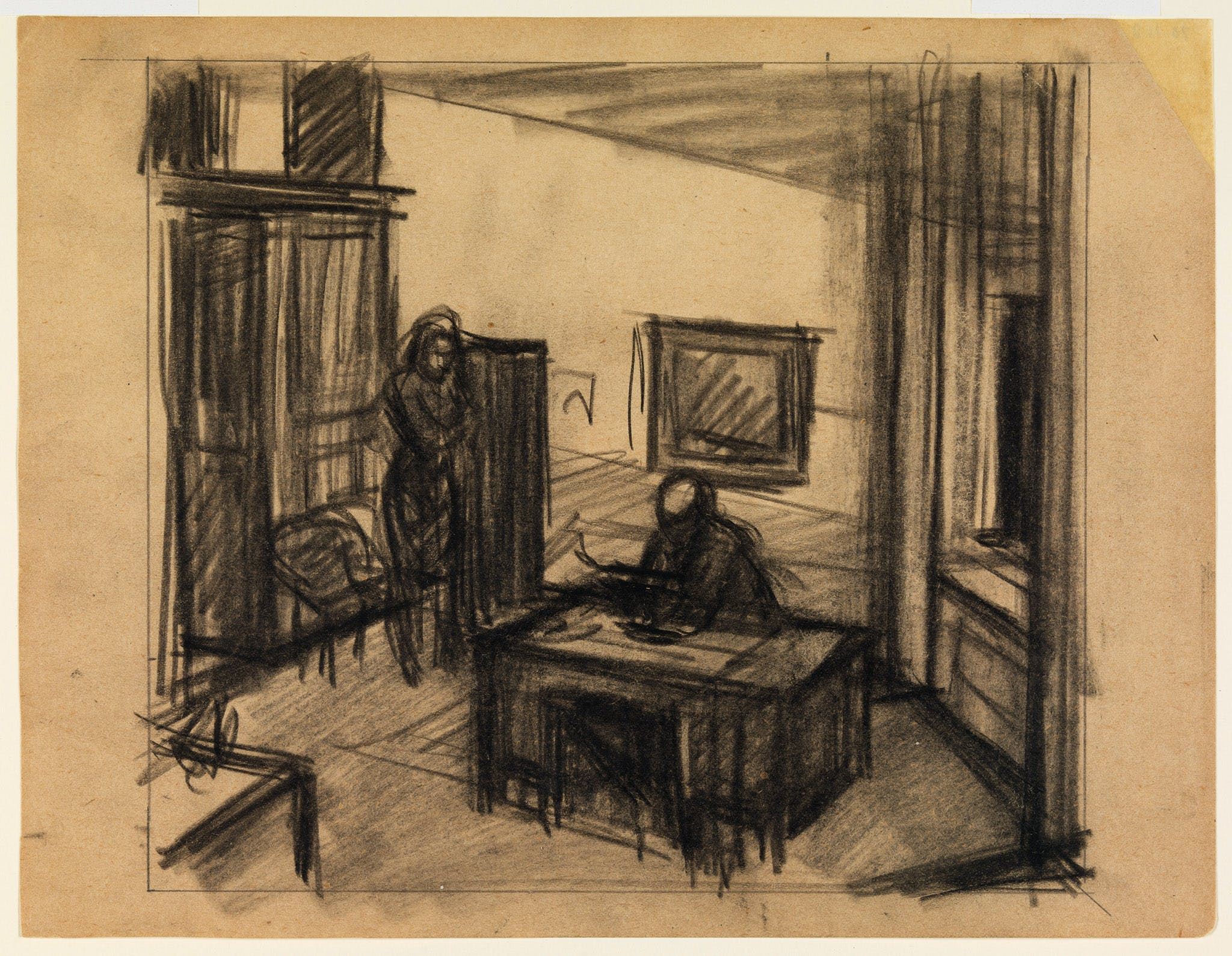 Edward Hopper, Study for Office at Night, 1940