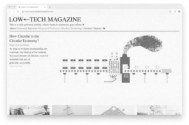 Low Tech site