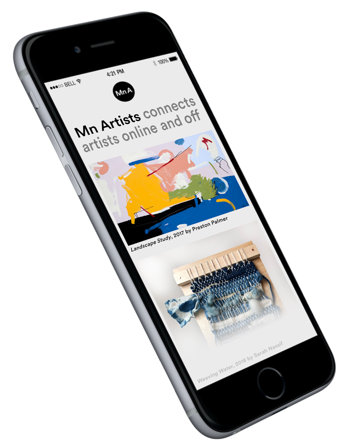 iphone rendering with images of art