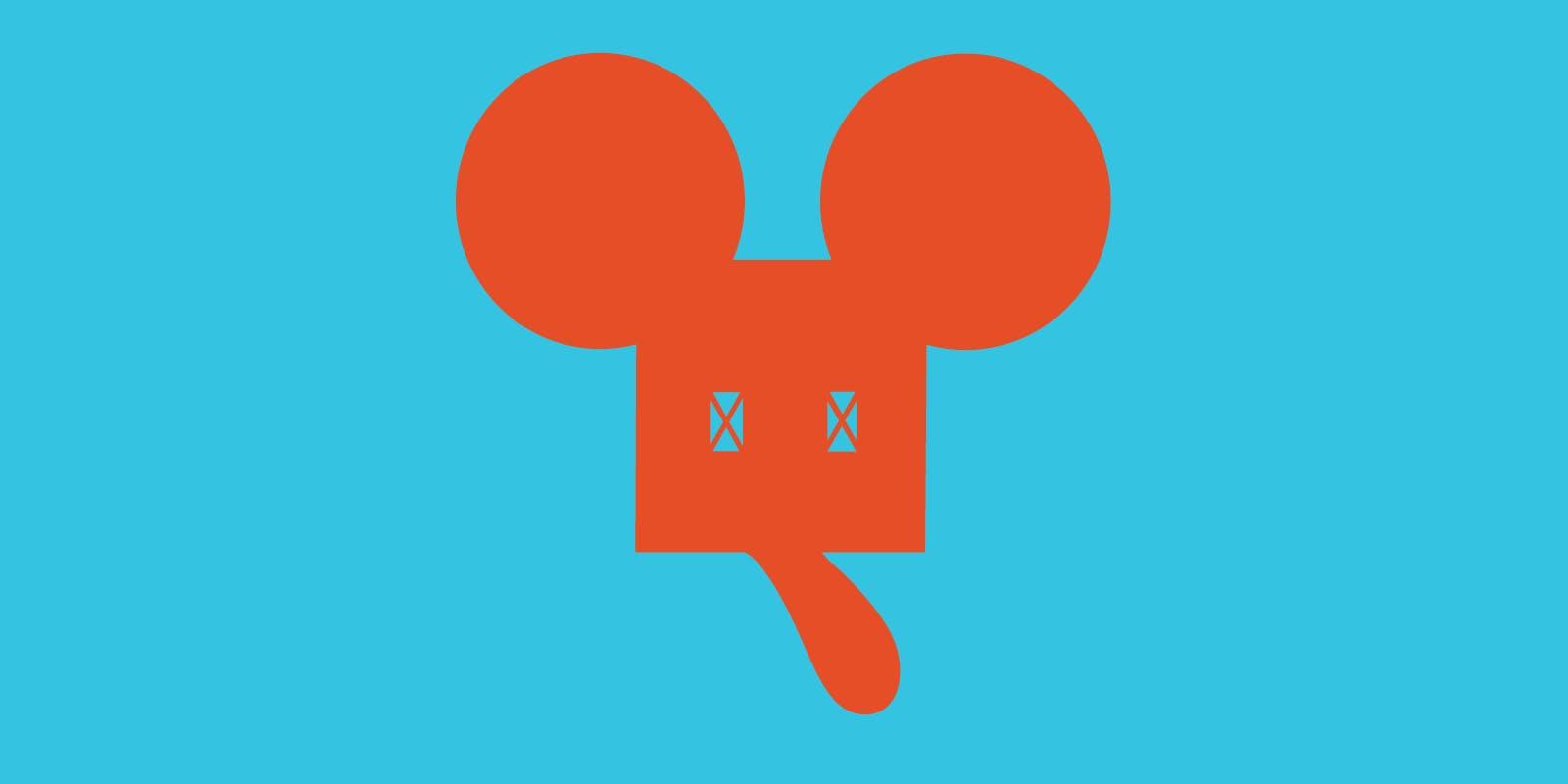Claes Oldenburg, Geometric Mouse Logo—Unconscious State