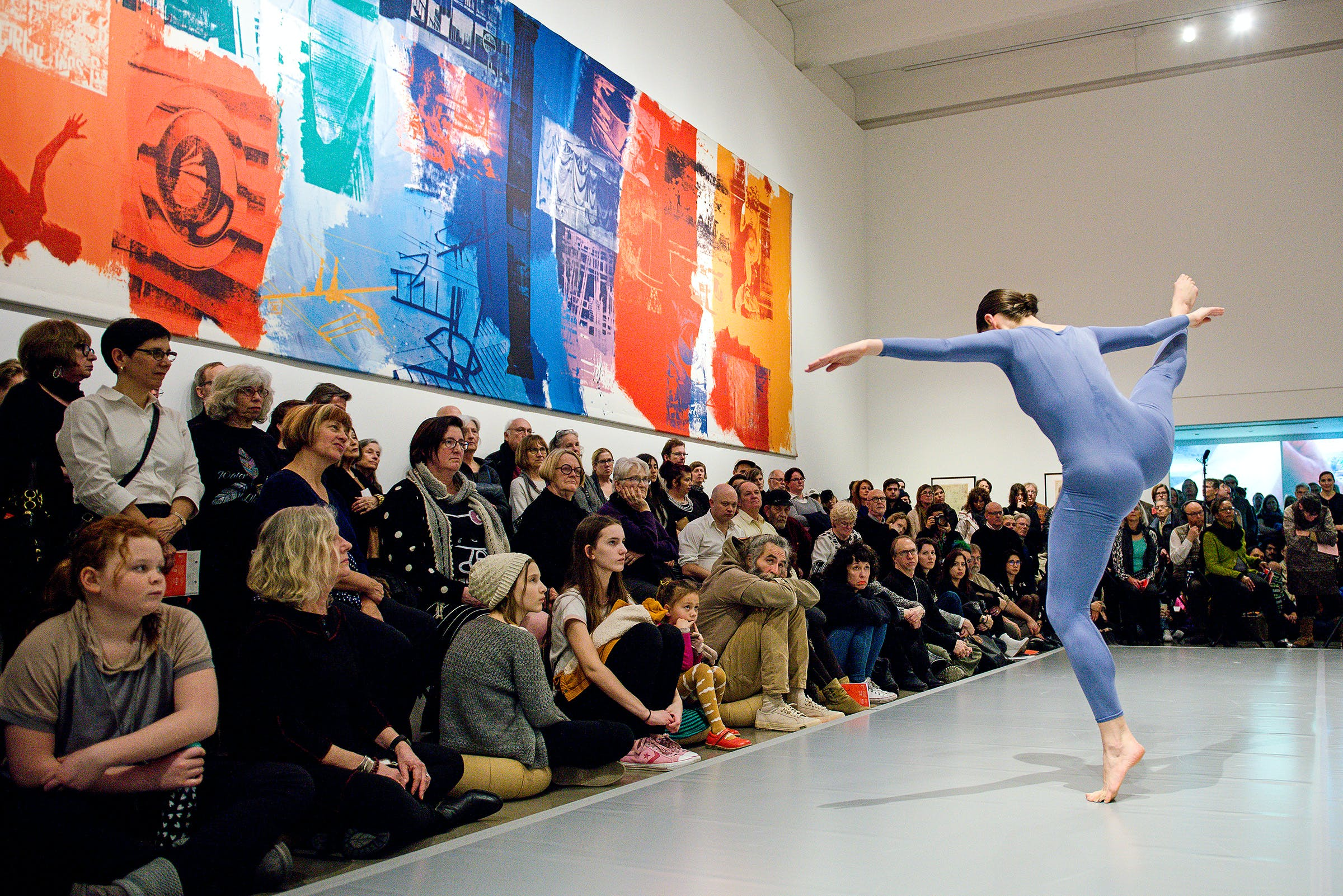 View of the exhibition Merce Cunningham: Common Time, 2017; Merce Cunningham's Events, 2017 (Photo: Anna Fink, ©Walker Art Center)