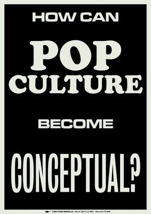 How can pop culture become conceptual?