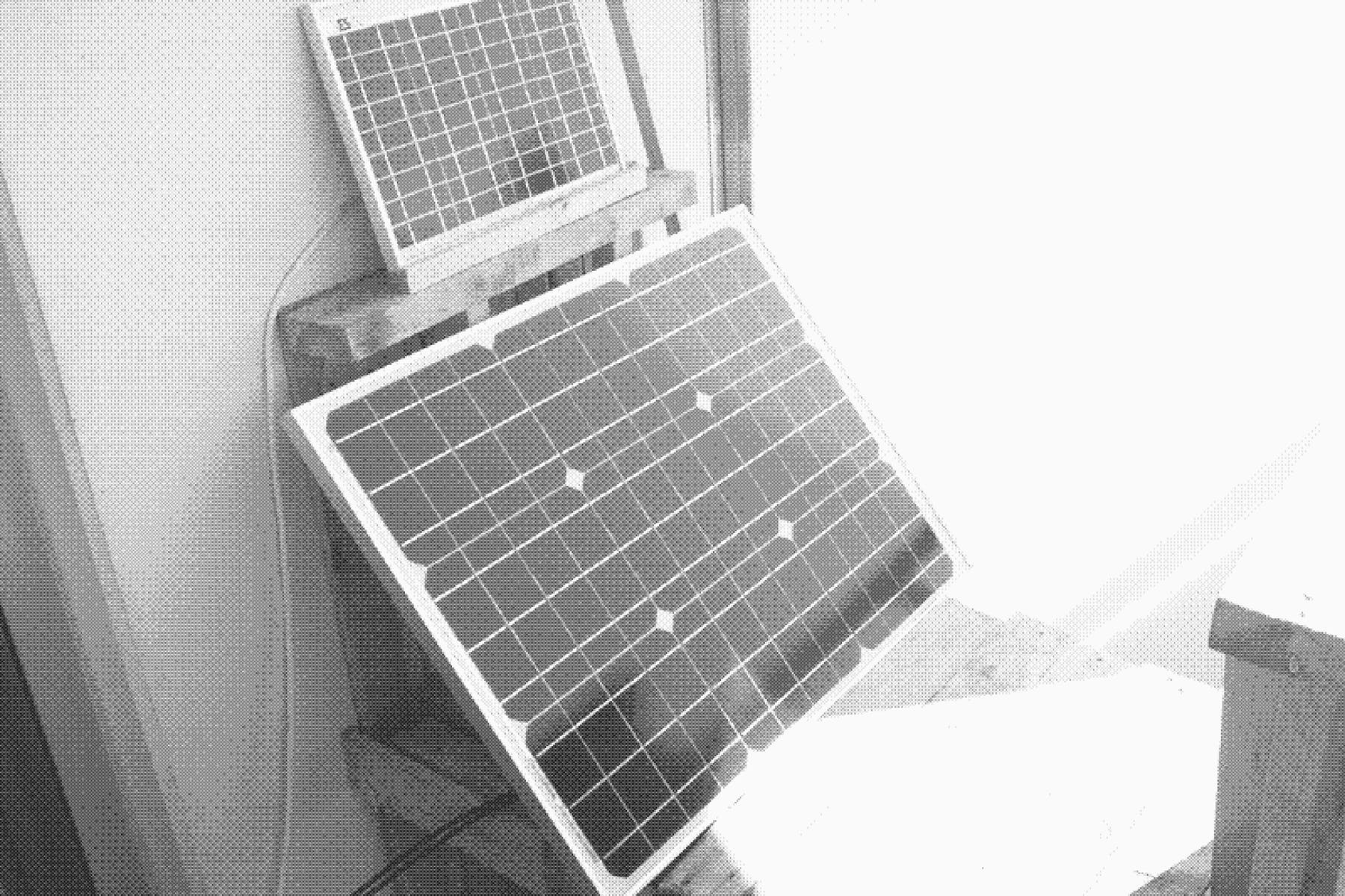 solar panel on porch