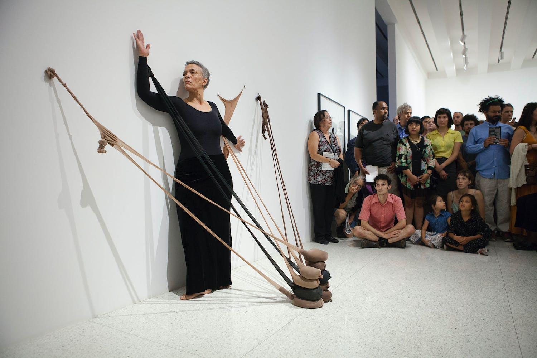 Senga Nengudi, Untitled (RSVP), 2013; part of the exhibition Radical Presence: Black Performance in Contemporary Art, 2014