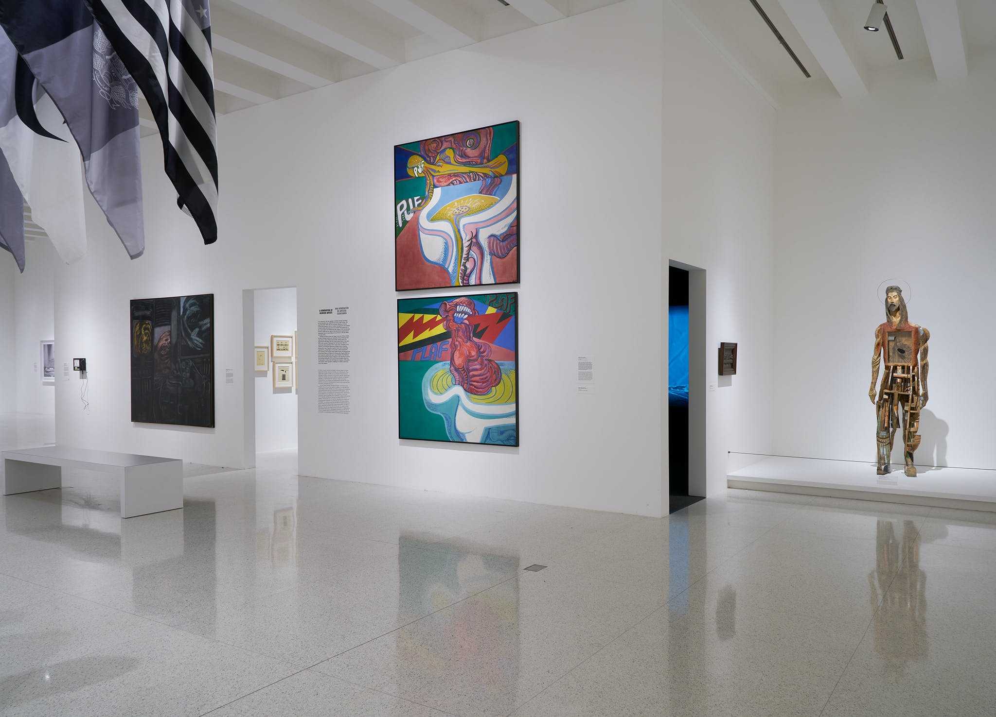 View of the exhibition Adiós Utopia: Dreams and Deceptions in Cuban Art Since 1950, 2017. (Photo: Dylan Nelson, ©Walker Art Center)