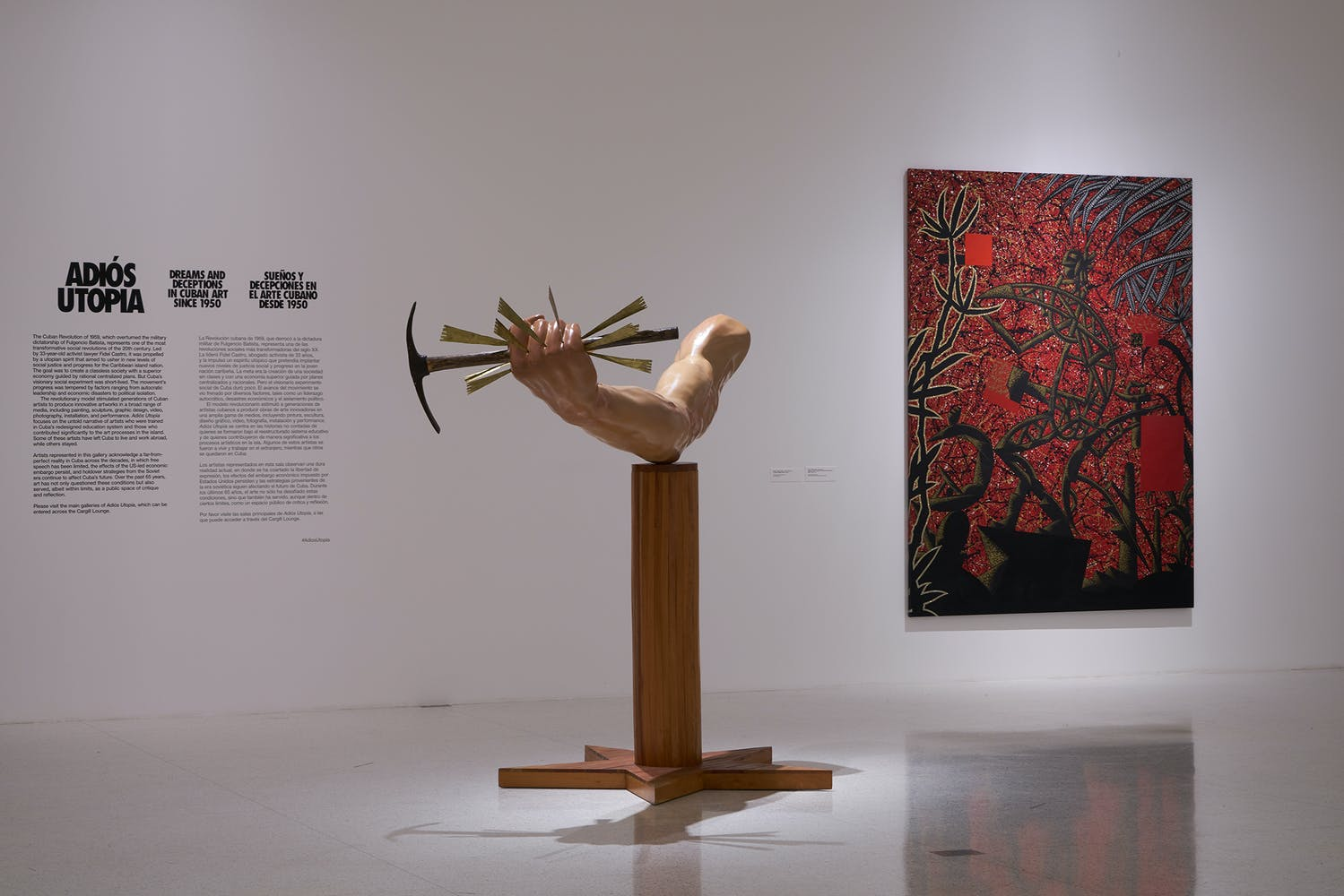 View of the exhibition Adiós Utopia: Dreams and Deceptions in Cuban Art Since 1950. Photo: Dylan Nelson for Walker Art Center