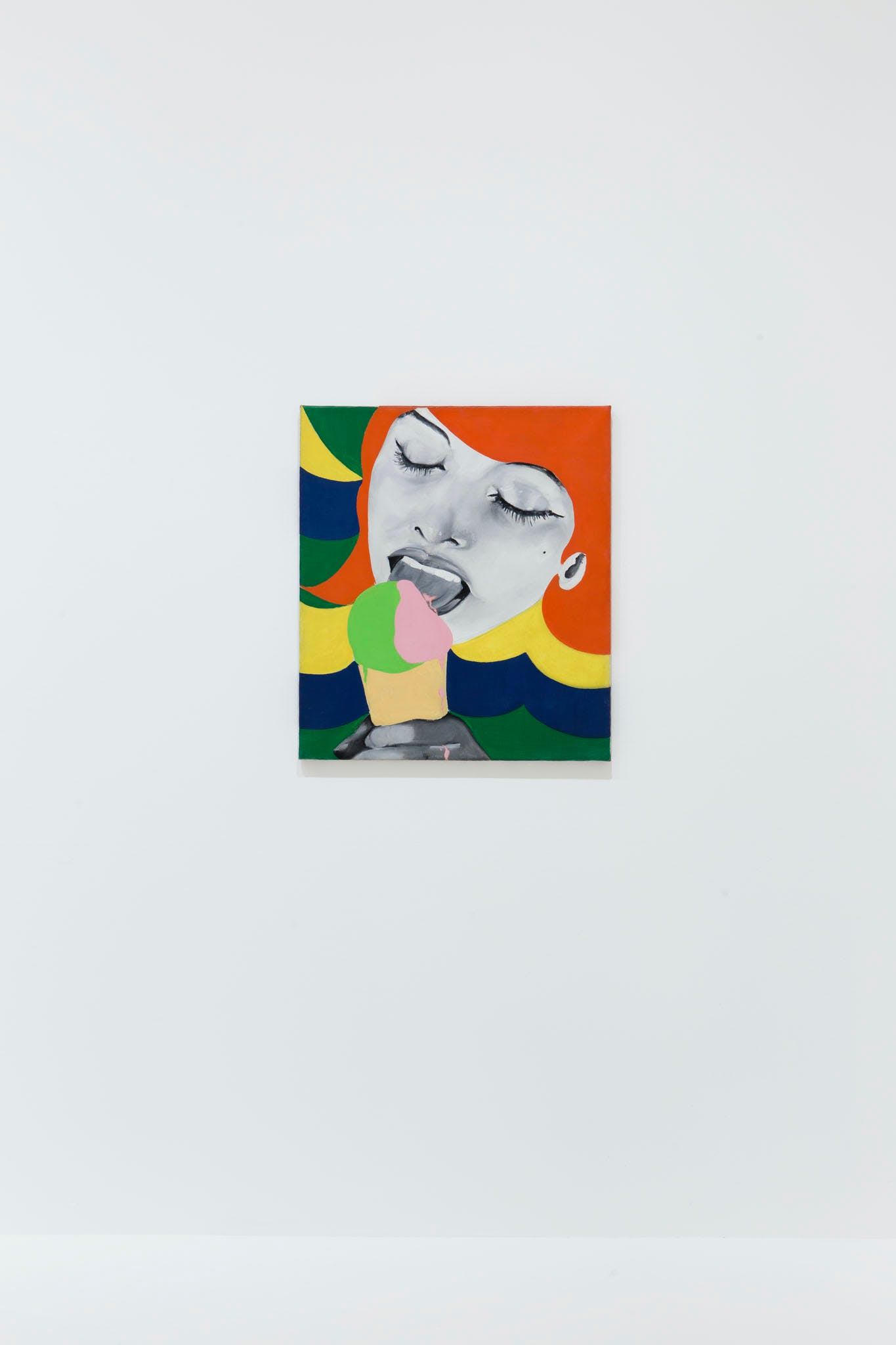 View of the exhibition International Pop, 2015; Evelyne Axell, Ice Cream, 1964