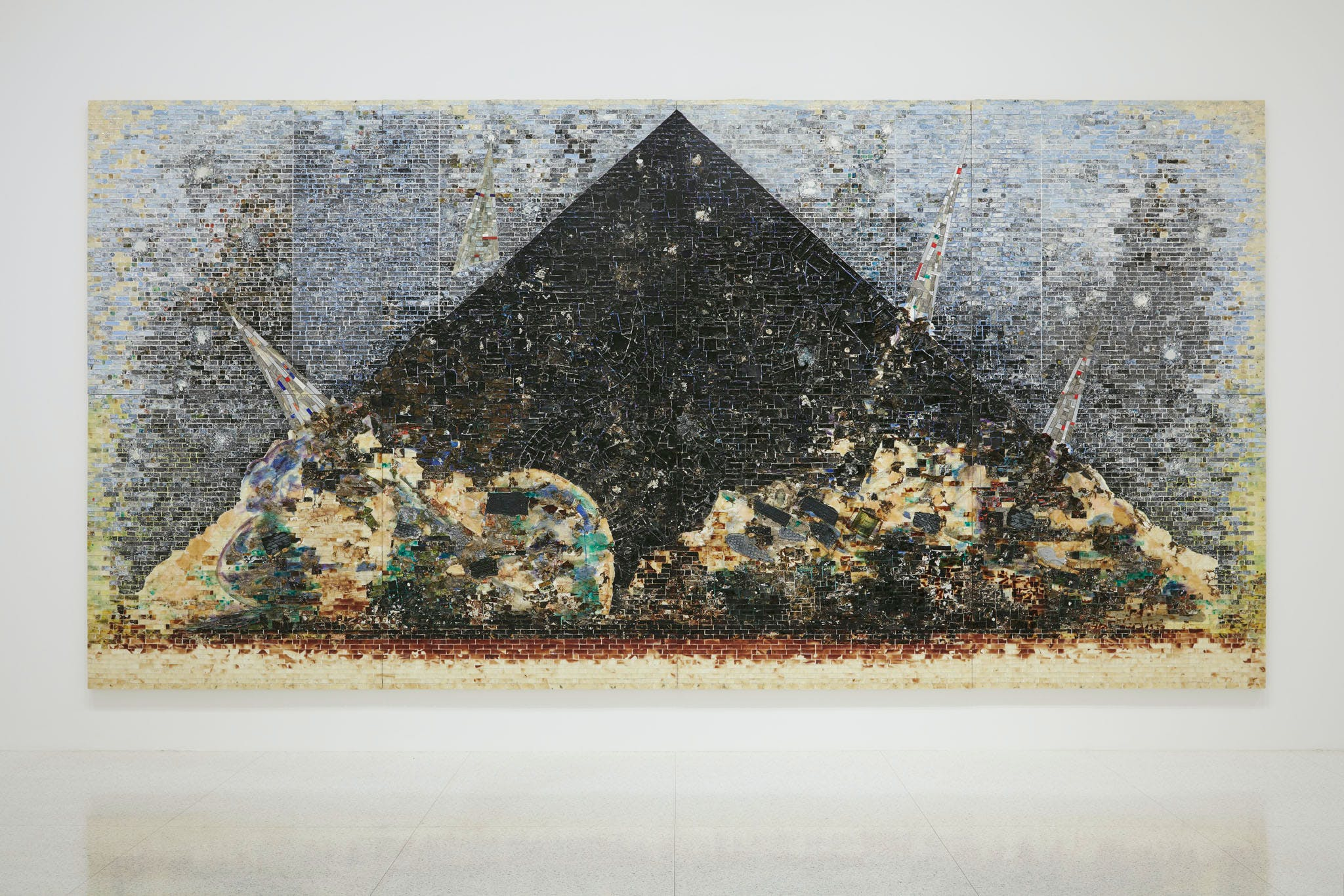 View of the exhibition Jack Whitten: Five Decades of Painting, 2015; Jack Whitten, 9–11–01, 2006